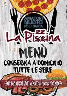Menu Pizzeria Follonica a Domicilio Pagina 1